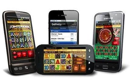Bild på smartphones med mobilt casino