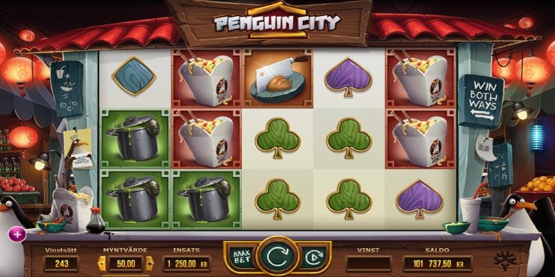 spelplan med pingviner