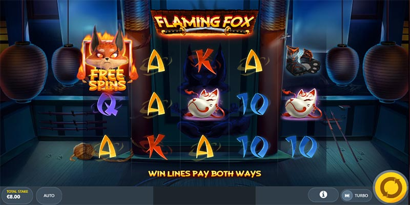 flaming fox spelplan