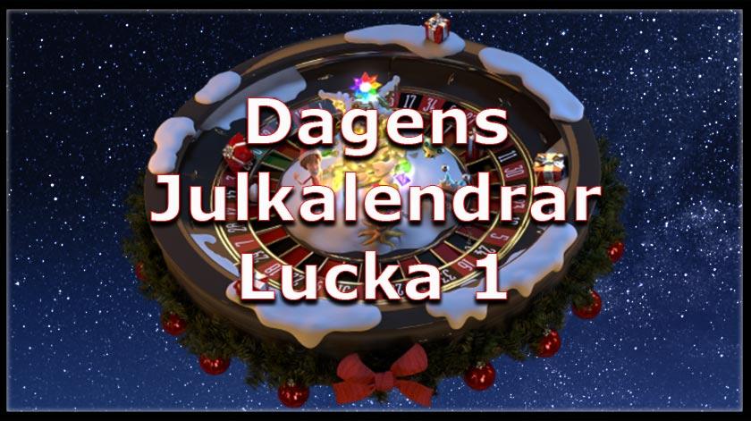 Lucka nummer 1, slotspel och julkalendrar