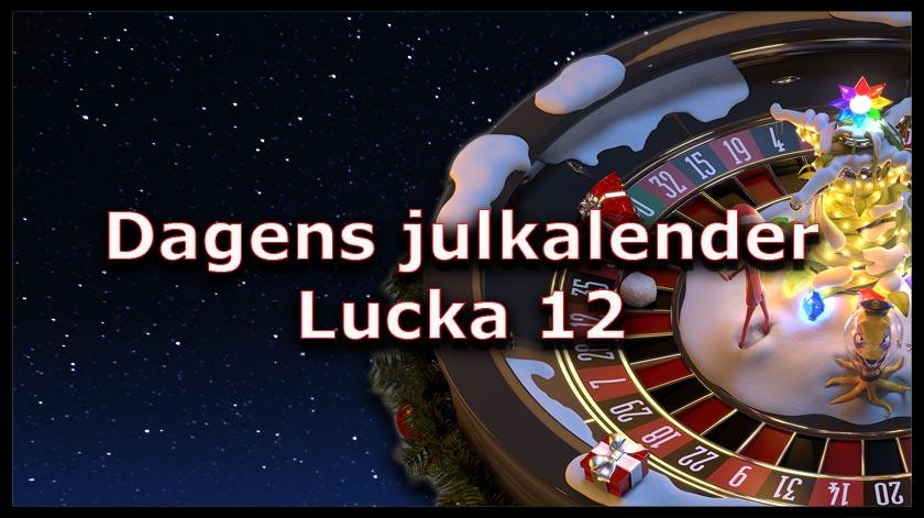 Dagens kasinokalender lucka nummer 12