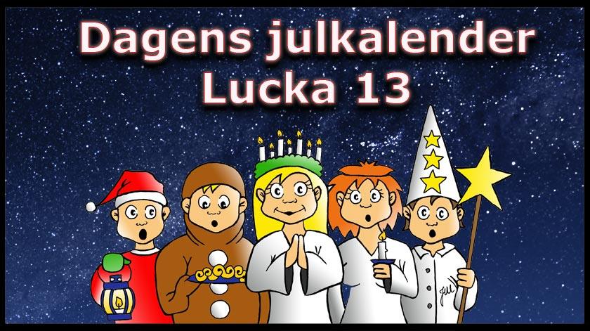 Lucia är här med lucka nummer 13 i kasino julkalendern