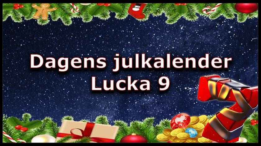 Julkalender kasino lucka 9